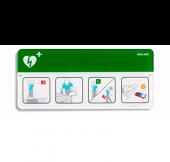 AED tiedotus kyltti vihreä